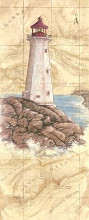 Peggy's Cove Light poster print by Janet Kruskamp