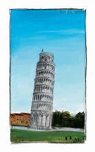 World Landmark Italy poster print by Paul Gibson