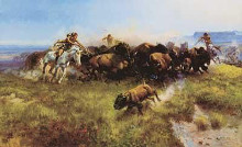 Buffalo Hunt (H39) poster print by Charles M Russell