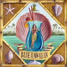 Blue Hawaiian poster print