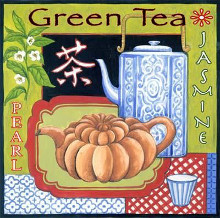 Asian Tea poster print by Helen Vladykina