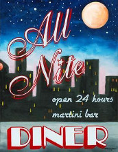 All Nite Diner poster print by Catherine Jones