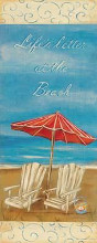 Life's Better At The Beach poster print by Grace Pullen