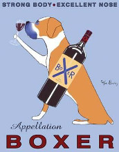 Appellation Boxer poster print by Ken Bailey