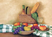 Basket And Bowl poster print by Sherry Masters
