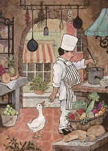 Chef With Goose poster print by Betty Whiteaker