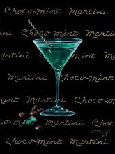 Choco-Mint Martini poster print by Janet Kruskamp