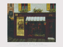 Oldest Wine Store poster print by Viktor Shvaiko