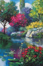 Garden Over The Pond poster print