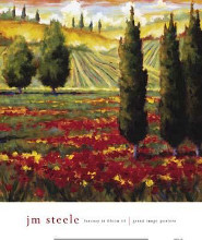 Tuscany In Bloom III poster print by Jm Steele