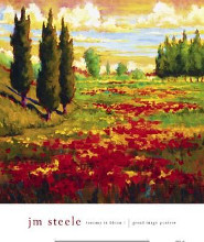 Tuscany In Bloom I poster print by Jm Steele