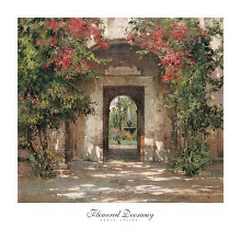Flowered Doorway poster print by Cyrus Afsary