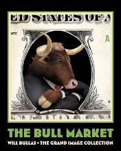 Bull Market poster print by Will Bullas