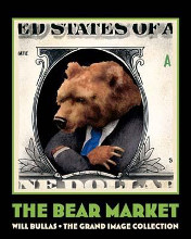 Bear Market poster print by Will Bullas