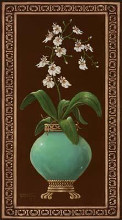 Ginger Jar With Orchids I poster print by Janet Kruskamp