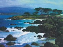 Coastline At Pacific Grove poster print by Brian Blood