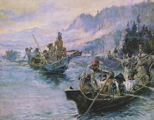 Lewis And Clark On The Lower Columbia poster print by Charles M Russell