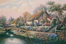 Village Of Selworthy poster print by Carl Valente