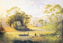 Boating On The Hudson poster print by John Woodhouse Audubon