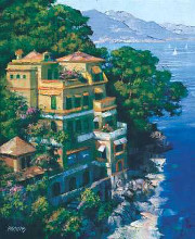Cove At Portofino poster print by Howard Behrens