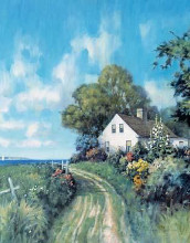 Fisherman's Cottage poster print by Paul Landry