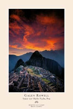 Sunset Over Machu Picchu poster print by Galen Rowell