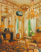 Gold Sitting Room poster print by  Lone