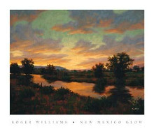 New Mexico Glow poster print by Roger Williams