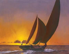Sails In The Sunset poster print by Diane Romanello