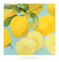 Fresh Lemons poster print by Martha Negley
