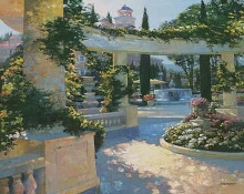 Bellagio Garden poster print by Howard Behrens