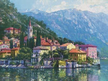 Reflections Of Lake Como poster print by Howard Behrens