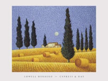 Cypress Hay poster print by Lowell Herrero