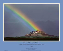 Rainbow Over The Potala Palace poster print by Galen Rowell