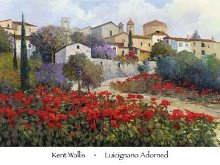 Luicignano Adorned poster print by Kent Wallis