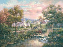 Vermonts Colonial Times poster print by Carl Valente