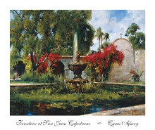 Fountain At San Juan Capistrano poster print by Cyrus Afsary