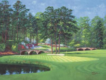 11Th At Augusta-White Dogwood poster print by Bernard Willington