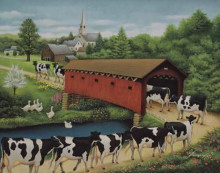 Cows In West Arlington poster print