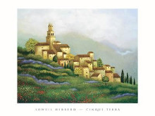 Cinque Terra poster print by Lowell Herrero