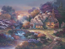 Garden Wishing Well poster print by James Lee