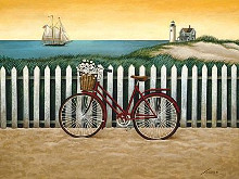 Cycle To The Beach poster print by Lowell Herrero