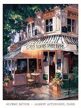 August Afternoon, Paris poster print by George Botich