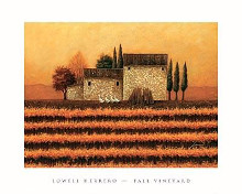 Fall Vineyard poster print by Lowell Herrero
