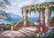 Floral Patio II poster print by Sung Kim