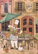 Chef At Market poster print