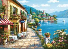Overlook Cafe I poster print by Sung Kim