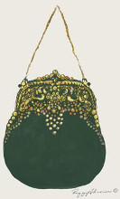 Beaded Purse poster print by Peggy Abrams