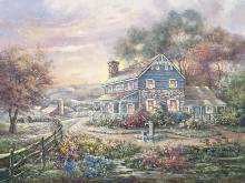 Hill Top Farms poster print by Carl Valente