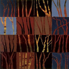 Red Trees I poster print by Gail Altschuler